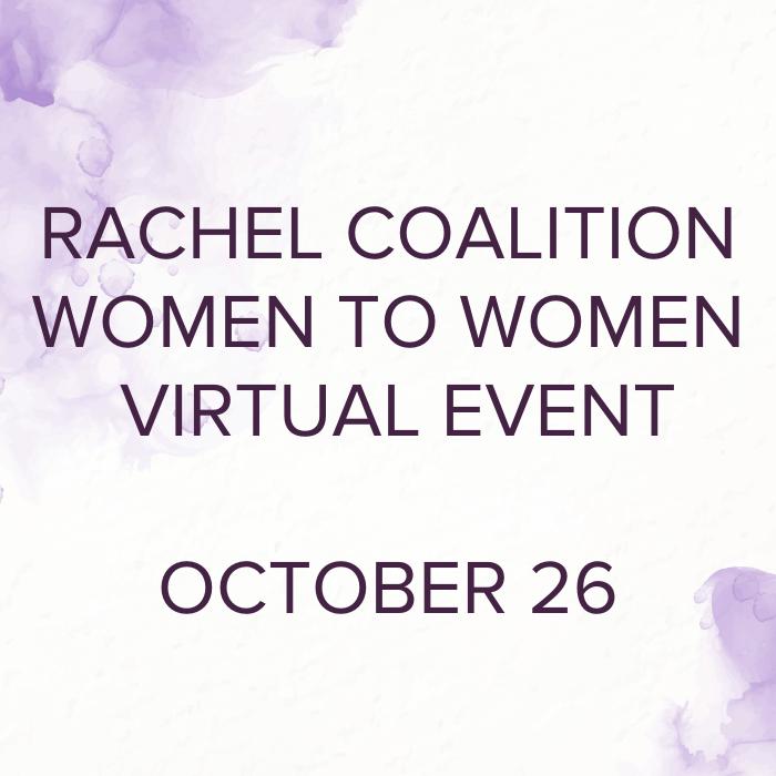 Rachel Coalition Women to Women Event